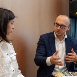 Евгения Шанская и Максим Агаев, Генеральный директор Schneider Electric Казахстан
